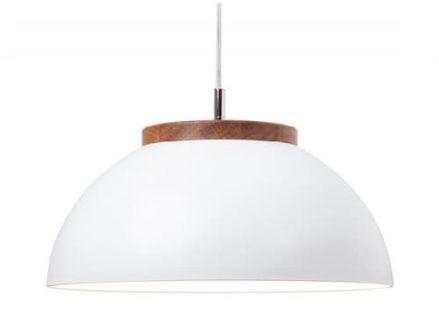 Lampa wisząca DUB z szerokim kloszem Dreizehngrad - biała