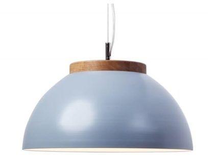 Lampa wisząca z szerokim kloszem DUB Dreizehngrad - niebieska