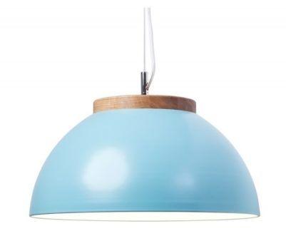 Lampa wisząca z szerokim kloszem DUB Dreizehngrad - jasna niebieska