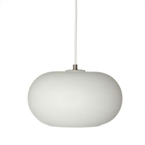Stylowa lampa wisząca Kobe - Frandsen Lighting - szklana biała
