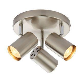Lampa na 3 żarówki Arezzo - Saxby Lighting - srebrny