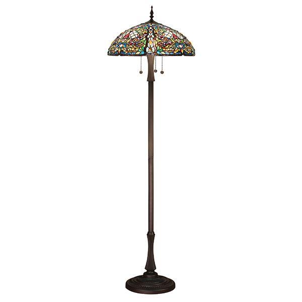 kolorowa lampa podłogowa na trzy żarówki z włącznikami