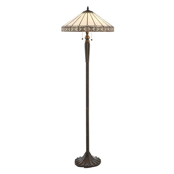 Lampa witrażowa podłogowa Boleyn - Interiors - szklana Tiffany