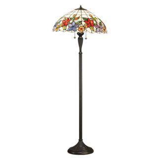 Lampa podłogowa Country Border - Interiors  - szkło, brąz