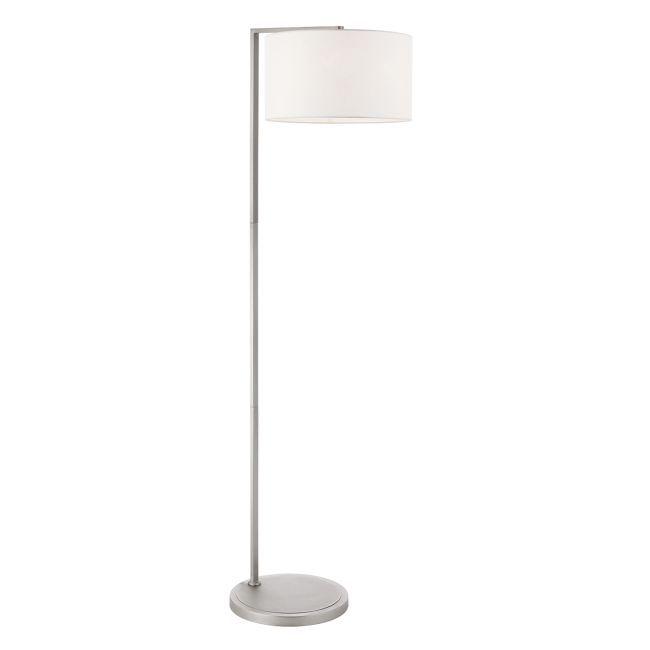Lampa podłogowa Daley - Endon Lighting - srebrna, biała