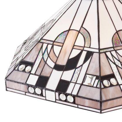 Lampa podłogowa witrażowa Metropolitan - Interiors - brązowa podstawa
