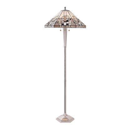 Lampa podłogowa Metropolitan - Interiors - srebrna postawa