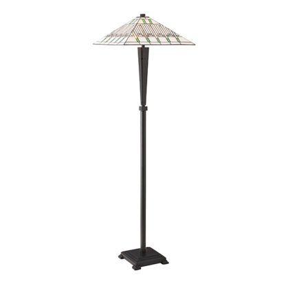 Lampa podłogowa Tiffany Mission - Interiors - witraż, szkło