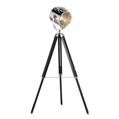 Lampa podłogowa Nautical - Endon Lighting trójnogi - czarna, srebrna
