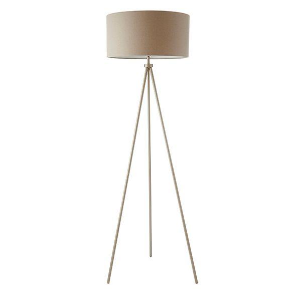 Lampa podłogowa Tri - Endon Lighting - tripod - metal, tkanina