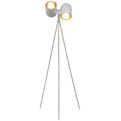 Lampa podłogowa tripod - Aston podłogowa - Zuma Line - biała, złota