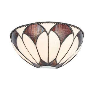 Lampa ścienna Aragon - Interiors - szklany klosz