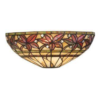 Lampa ścienna Ashtead - Interiors - witrażowe szkło