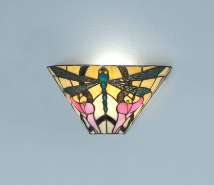Lampa ścienna Ashton - Interiors - szklany klosz