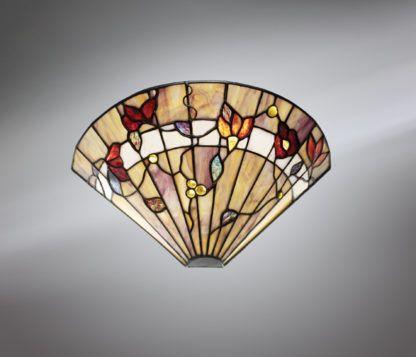 klasyczny kolorowy kinkiet wykonany z malowanego szkła