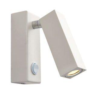 Lampa ścienna Bock - Endon Lighting - matowa, biała