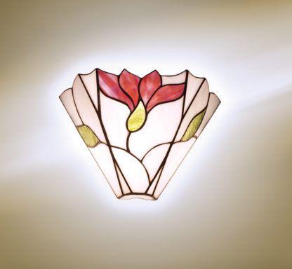 Kinkiet Botanica - Interiors - szkło witrażowe, biały