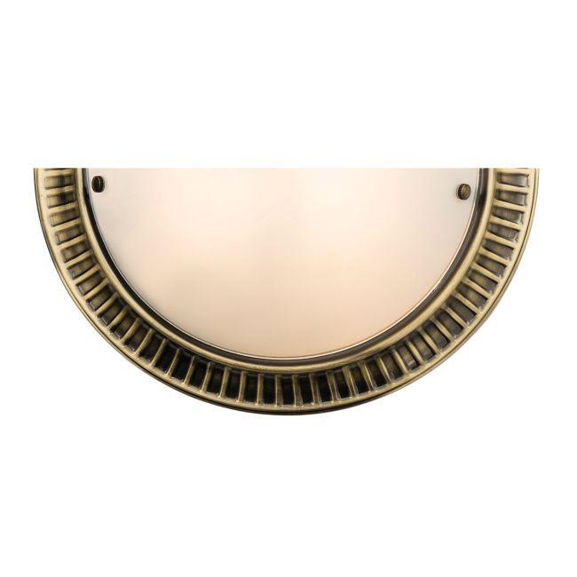 Lampa ścienna Brahm - Endon Lighting - mosiądz, szkło