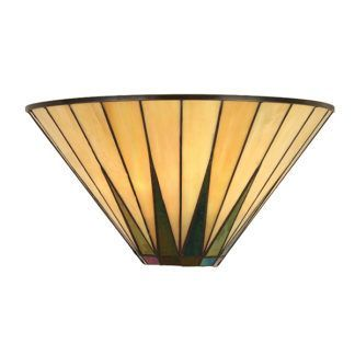 Lampa ścienna Dark Star - Interiors - szklana, beżowa