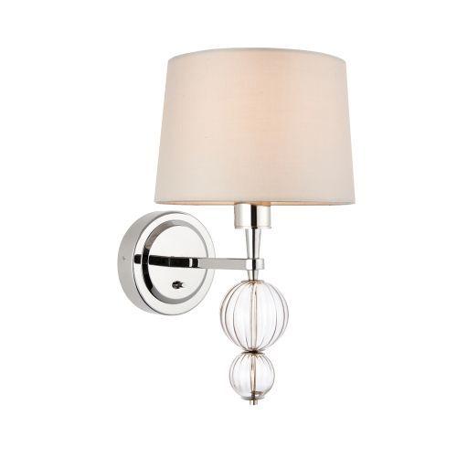 Lampa ścienna Darlaston - Interiors - beżowy klosz