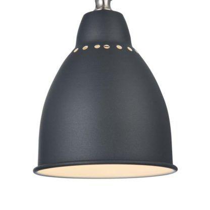 klosz czarnej lampy stołowej