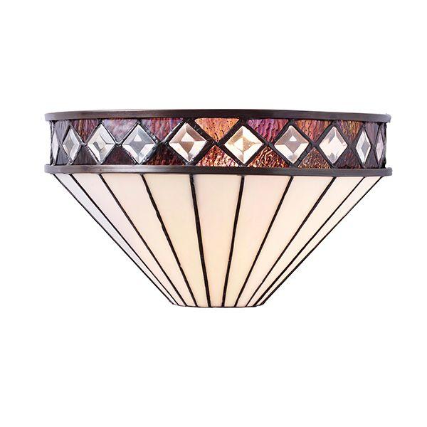 Lampa ścienna Fargo - Interiors - szklana