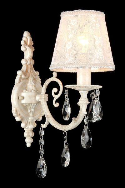 Lampa ścienna Filomena - Maytoni - biała, kryształki