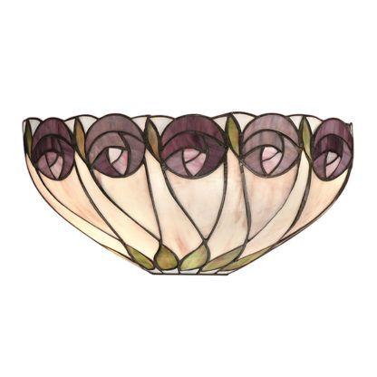 Lampa ścienna Hutchinson - Interiors - szkło Tiffany