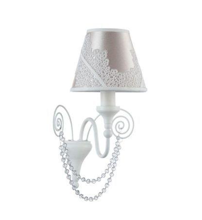 Lampa ścienna Lucy - Maytoni - biała, kryształki