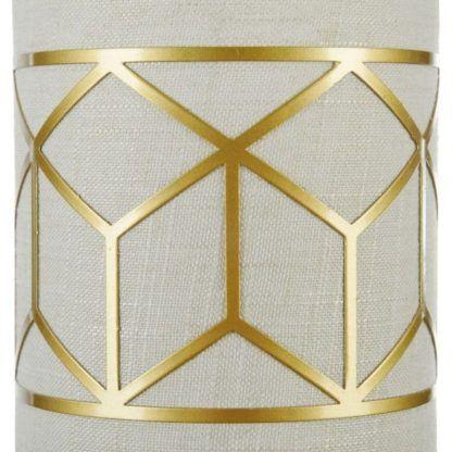 kinkiet materiałowy dekorowany złotem