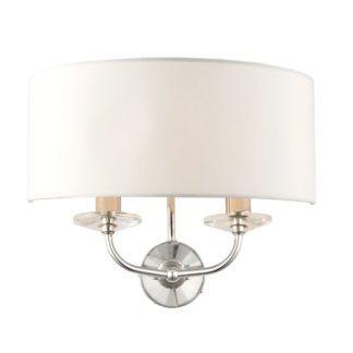 Lampa ścienna Nixon - Endon Lighting - srebrna, biała