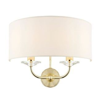 Lampa ścienna Nixon - Endon Lighting - złota, biała