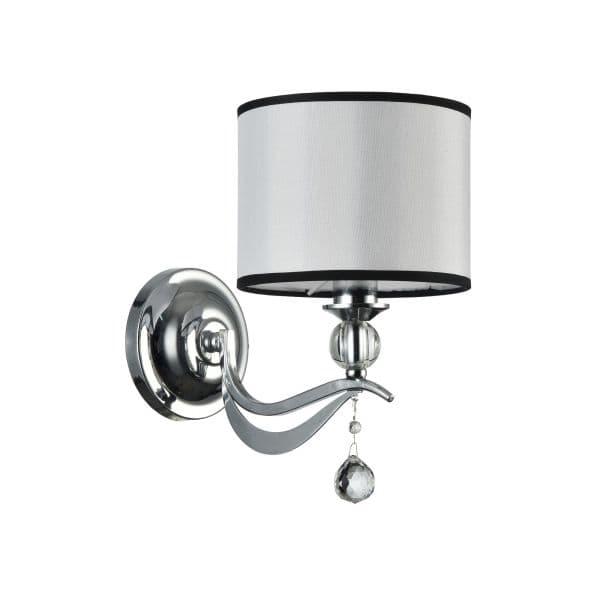 Lampa ścienna Terra - Maytoni - srebrna, biała
