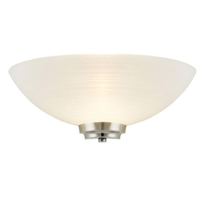 Lampa ścienna Welles - Endon Lighting - biała, srebrna