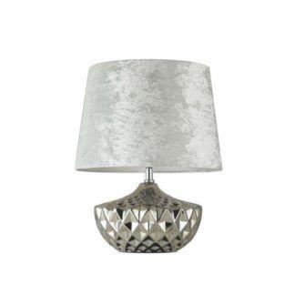 Lampa stołowa Adeline - Maytoni - srebrna podstawa