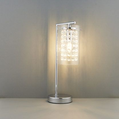 Lampa stołowa Alda - Endon Lighting -  srebrna, szklana