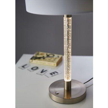 Lampa stołowa Andromeda - Endon Lighting - biała, srebrna