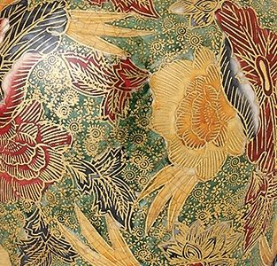 Lampa stołowa Arboretum - Kutani - Interiors - zieleń, złoto