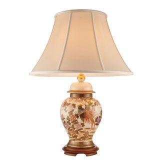 Lampa stołowa Birds&Peony - Kutani - Interiors - porcelana