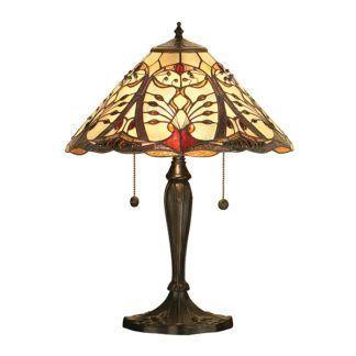 Lampa stołowa Chatelet - Interiors  - szklana, brązowa