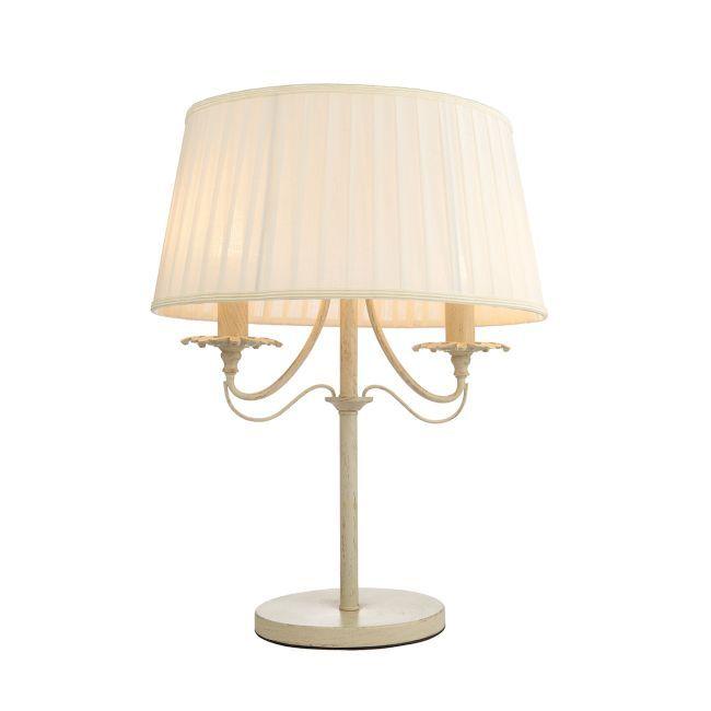 Lampa stołowa Chester - Endon Lighting - kremowa