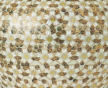 Lampa stołowa Daisies - Kutani - Interiors - drewno, ceramika