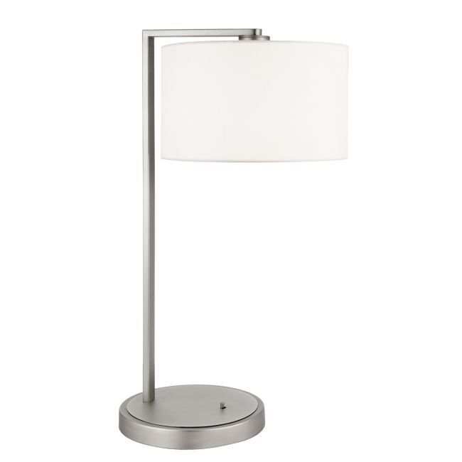Lampa stołowa Daley - Endon Lighting - srebrna, biała