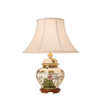 Lampa stołowa Ducks - Kutani - Interiors - złoto, biel, zieleń