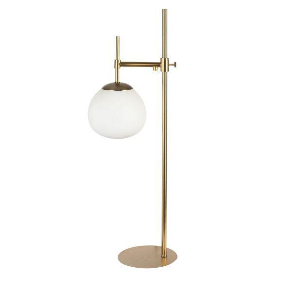 Lampa stołowa Erich - Maytoni - złota, biała