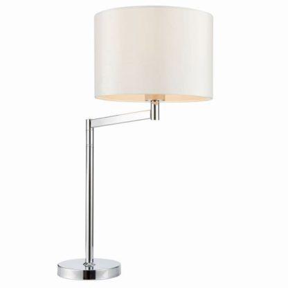 Lampa stołowa Evelyn - Endon Lighting - biała, srebrna