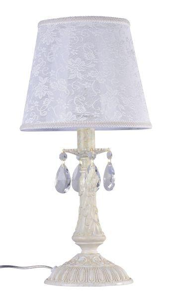 Lampa stołowa Filomena - Maytoni - ivory, kryształki