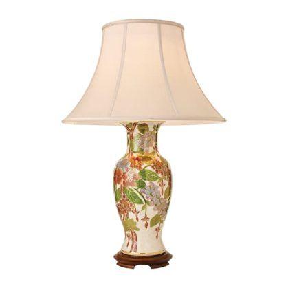 Lampa stołowa Foxgloves - Kutani - Interiors - drewno, porcelana