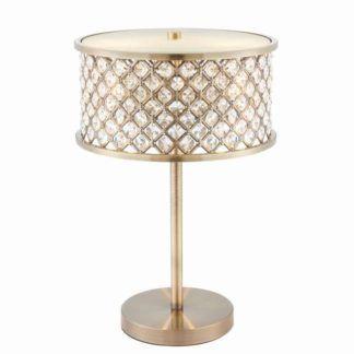 Lampa stołowa Hudson - Endon Lighting - złota, kryształki
