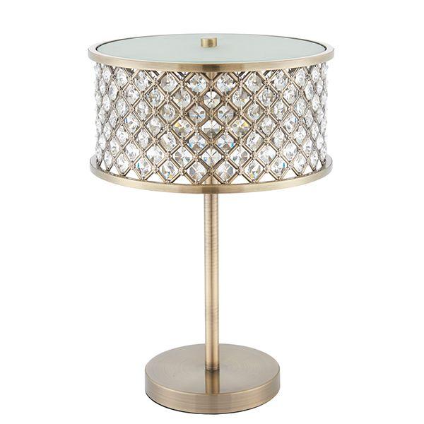 Lampa Stołowa Hudson Endon Lighting Złota Kryształki Ardantpl